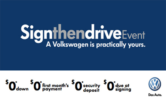 VW's Sign Then Drive Event Happening Now at Carousel ...