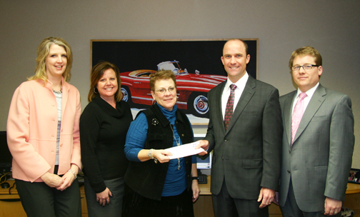 Carousel Motors And Carousel Nissan Present Checks To Mercy And St Lukes For Mammogram Fund